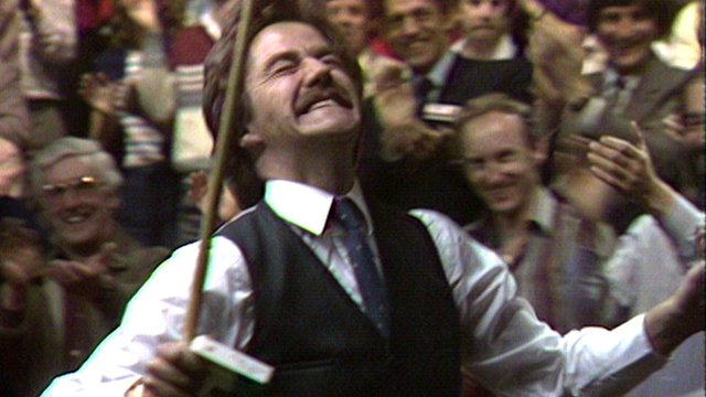Archive: Cliff Thorburn makes the first maximum break at the Crucible