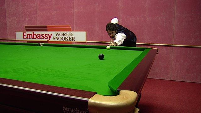 Ronnie O'Sullivan makes his second maximum 147 break at the Crucible in 2003.