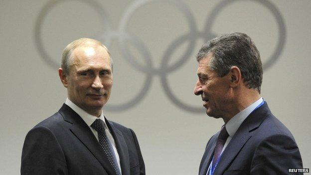 Vladimir Putin (left) and Dmitry Kozak. Photo: February 2014