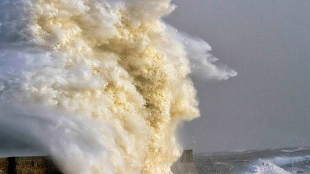 Stormy sea in Porthcawl