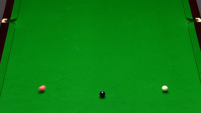 Judd Trump pots the pink ball with an amazing fluke shot to seal the frame