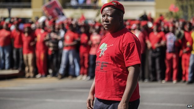 Julius Malema in Johannesburg, South Africa - 29 April 2014