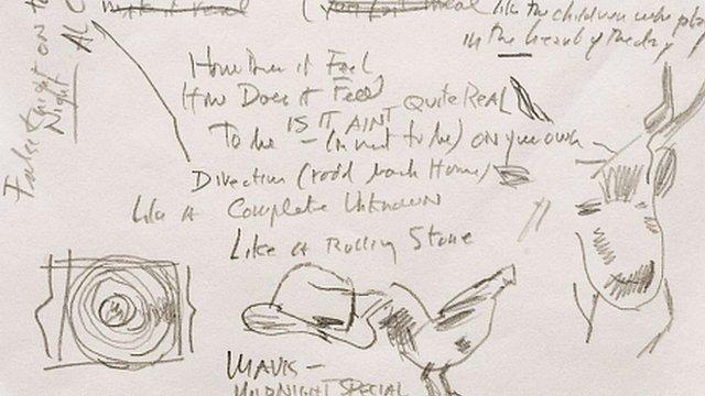 Musician Pat Kane: Bob Dylan manuscript shows