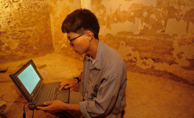 Computer mapping in an Egyptian tomb