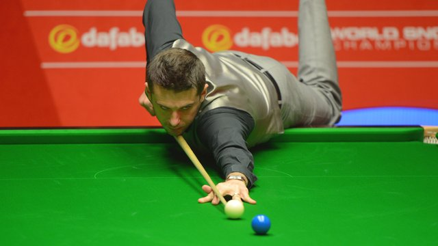 Mark Selby at the World Snooker Championship