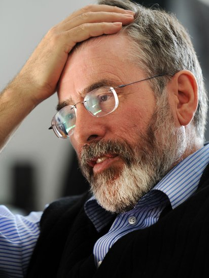 Gerry Adams pictured in February 2010 is currently being questioned by the PSNI
