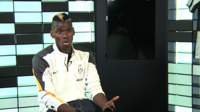 """Juventus' Paul Pogba accuses former club Manchester United of """"disrespect""""."""