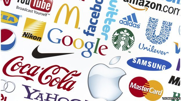 Well-known brand logos
