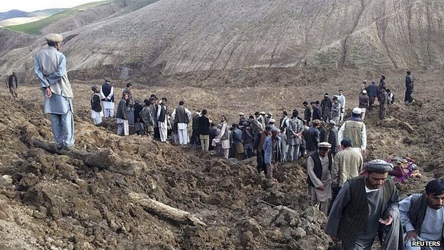 Landslide in Argo district in Badakhshan province