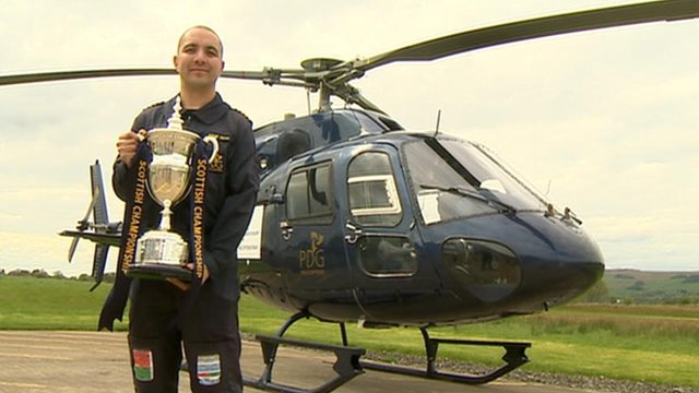 Pilot Steve and the Championship trophy