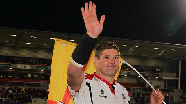 Johann Muller after his final Ravenhill game on Friday night