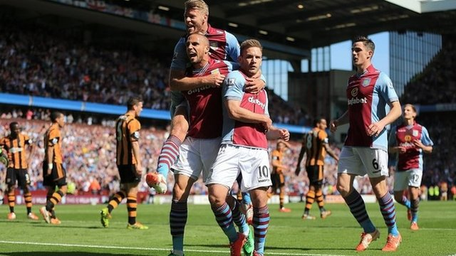 Andreas Weimann's two goals helped Villa to victory over Hull