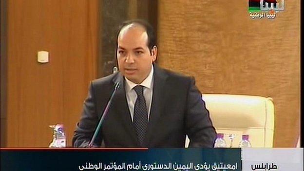 Ahmed Maiteg on National Libyan TV on 4 May