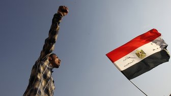 Egyptian protester in Tahrir Square, Cairo (file photo)