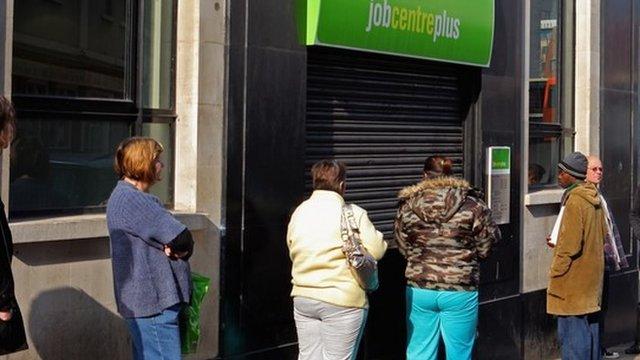 Queue at job centre
