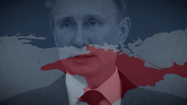 President Putin and Crimea illustration
