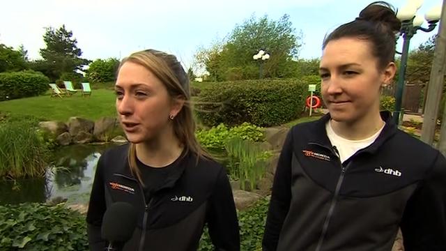 Olympic gold medallists Laura Trott and Dani King
