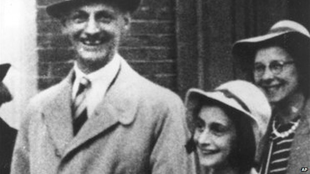 Otto Frank with daughter Anne