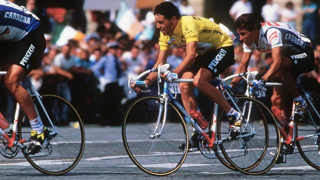 Stephen Roche in action in 1987