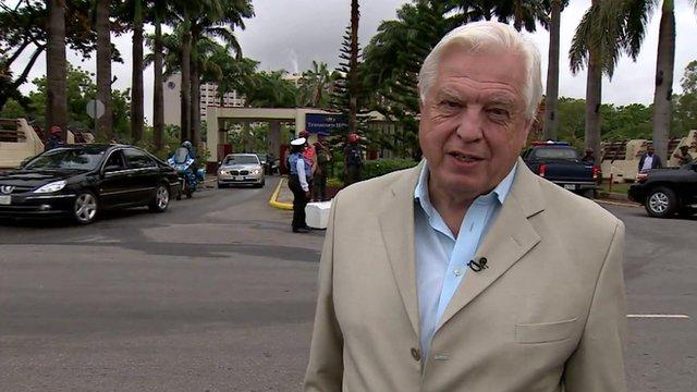 John Simpson in Abuja