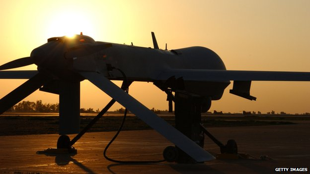 A US air force picture of an MQ-1 Predator drone in Iraq in 2004