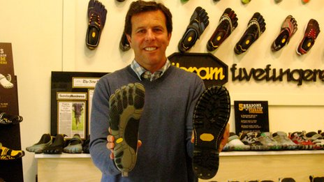 Tony Post and Vibram shoes