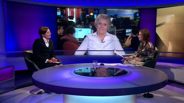 Nicky Moffat (l); Judith Webb (c); Kirsty Wark