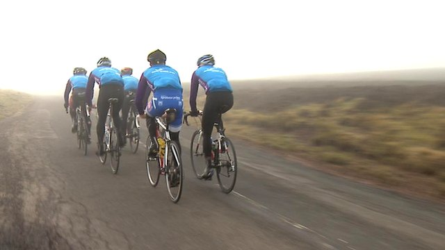 Scottish cycling team on a training ride