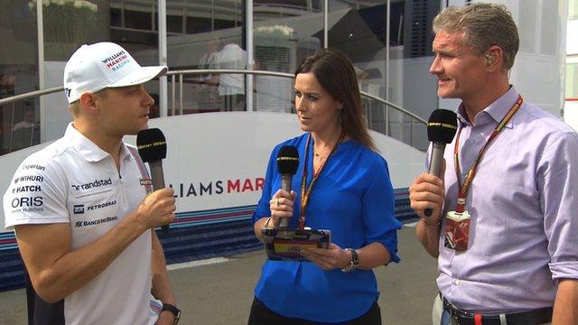 Valterri Bottas joins Lee McKenzie and David Coulthard for Inside F1