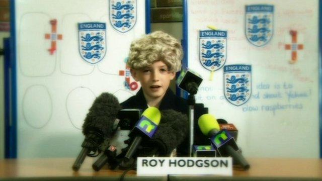 A child posing as Roy Hodgson
