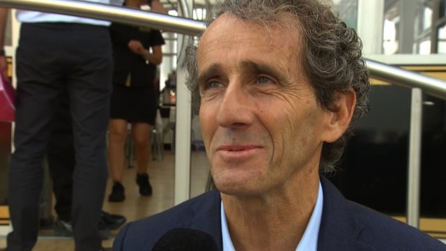 Four-time world champion Alain Prost