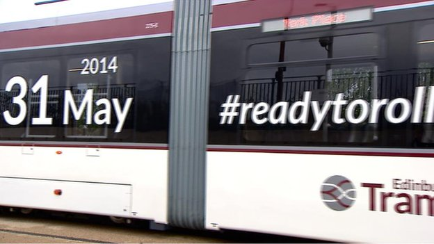 trams will begin on 31 may