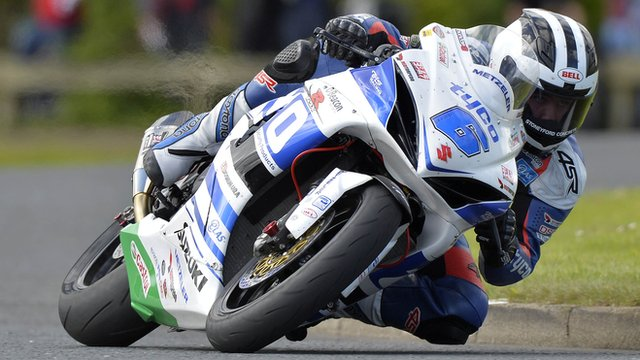 William Dunlop in action at the North West 200
