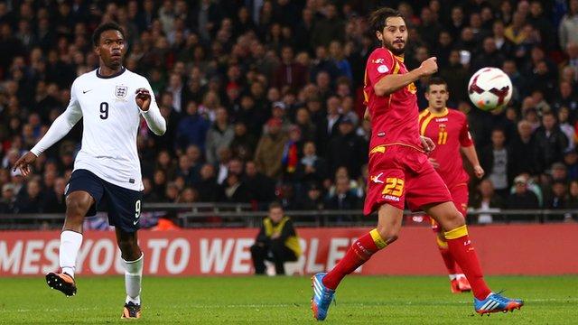 Branko Boskovic scores an own goal against England