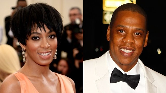 Solange Knowles and Jay Z
