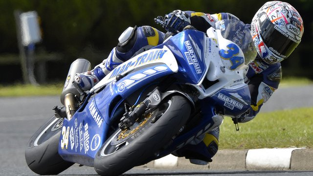 Alastair Seeley in action at the NW200