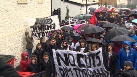 Protest Rhydywaun