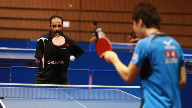 """""""Nothing is impossible"""" - Ibrahim Hamato, the table tennis star with no arms"""