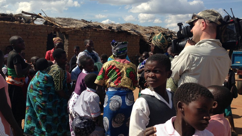 BBC East Midlands Today video journalist Paul Bradshaw filming in Malawi, Africa