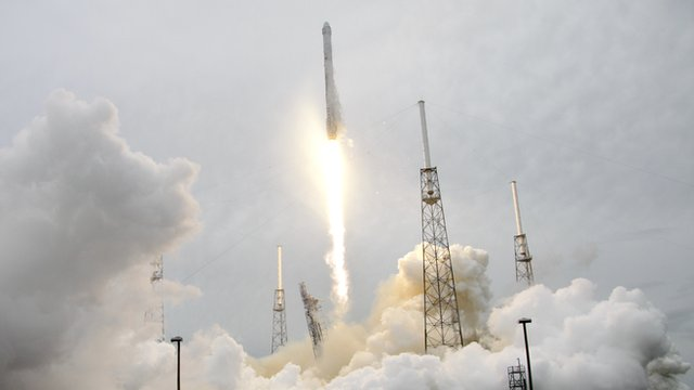 (File photo) A Space X rocket launches at Cape Canaveral