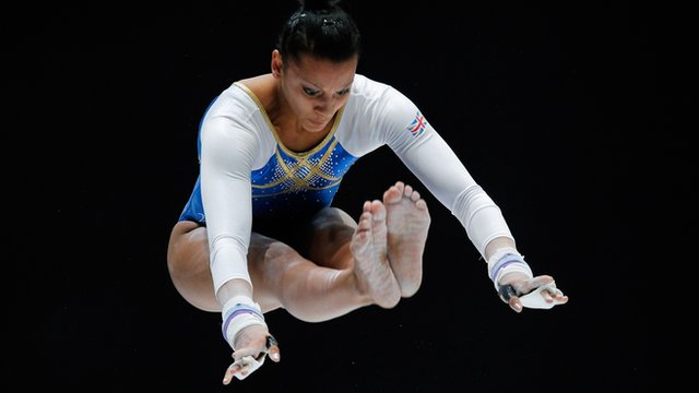 Great Britain's women qualify for Saturday's team final ahead of reigning champions Romania at the European Artistic Gymnastics Championships.