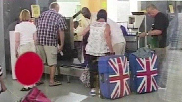 Tourists returning from Kenya