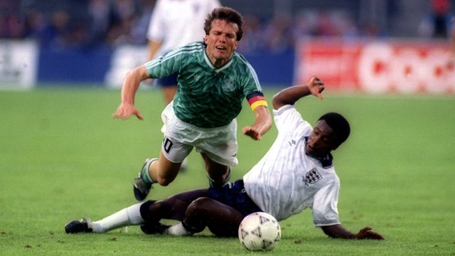Deflected free-kick gives Germany lead