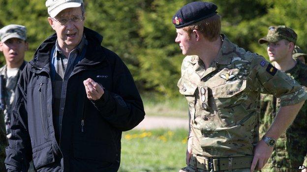 Prince Harry meets Estonian President Toomas Hendrik Ilves