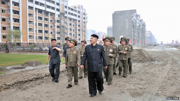 "North Korean leader Kim Jong-un inspects a construction site in this undated file photo released by North Korea""s Korean Central News Agency (KCNA) in Pyongyang"