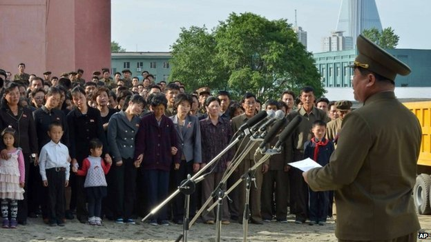 North Korean official apologizes in front of families of victims