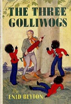 Clawr llyfr 'The Three Golliwogs' gan Enid Blyton