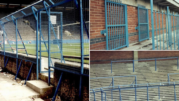 Terracing and fences at Hillsborough