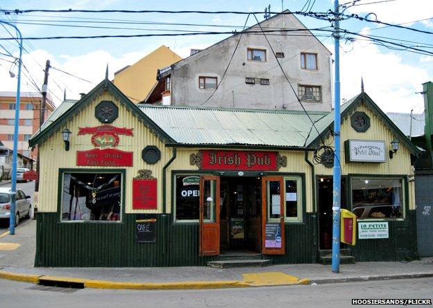 Irish pub in Ushuaia, Argentina