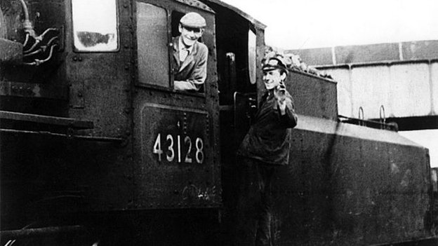 Engine crew at Percy Main